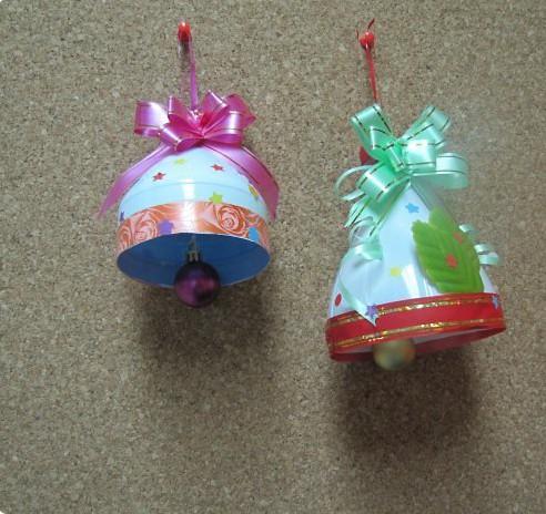 Новогодние игрушки своими руками из пластиковых бутылок фото